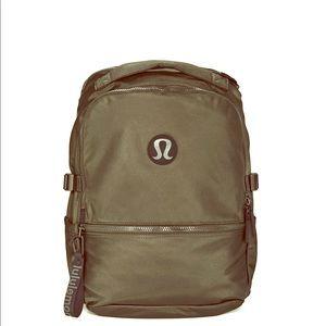 lululemon athletica Bags - New Crew dark olive backpack . 22L Brand new !
